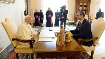 Vučić a Vatikánban: Szeretném, ha Ferenc pápa Szerbiába látogatna - A cikkhez tartozó kép