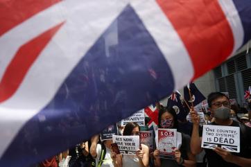 A tiltás ellenére újra tüntettek Hongkongban vasárnap - A cikkhez tartozó kép