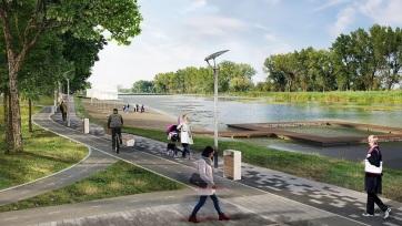 Verbász: Sétány, játszótér, kerékpárút épül a csatorna partján - A cikkhez tartozó kép