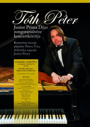 Tóth Péter zongoraművész első vajdasági koncertkörútja - A cikkhez tartozó kép