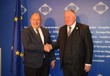A Régiók Bizottságának elnökével tárgyalt Pásztor István Brüsszelben - A cikkhez tartozó kép