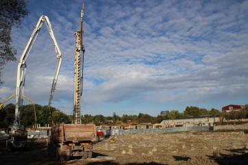 Topolya: Jó ütemben halad a fürdőkomplexum alapjának megépítése - A cikkhez tartozó kép