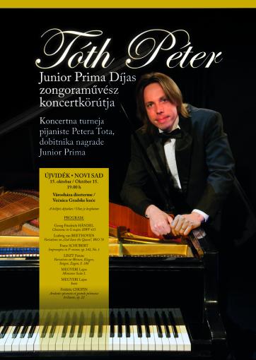 Kultura: Prva koncertna turneja pijaniste Petera Tota u Vojvodini - A cikkhez tartozó kép