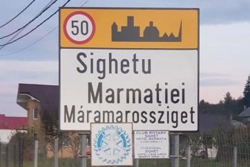 Két napig álltak Máramarossziget kétnyelvű helységnévtáblái - A cikkhez tartozó kép