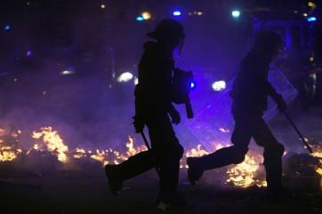 A katalán elnök elítélte az erőszakot - A cikkhez tartozó kép