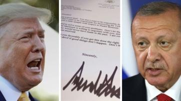Sajtóértesülés szerint Erdogan a szemétbe dobta Trump levelét - A cikkhez tartozó kép