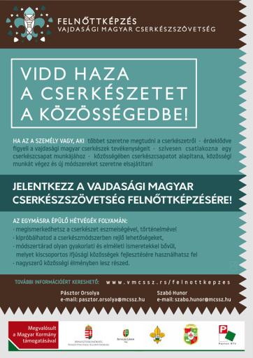 A Vajdasági Magyar Cserkészszövetség második alkalommal szervez felnőttképzést - A cikkhez tartozó kép