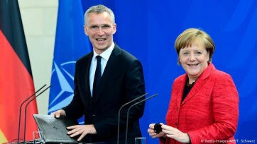 Merkel és Stoltenberg is visszautasította Macron kijelentését, amely szerint a NATO haldoklik - A cikkhez tartozó kép