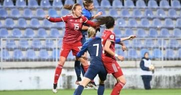 Női labdarúgó Eb-selejtező: Megszerezte első pontját a magyar csapat - A cikkhez tartozó kép