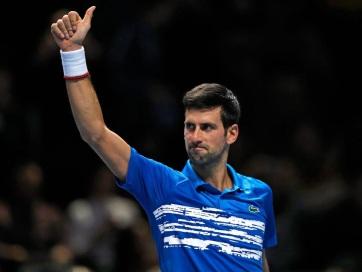 Tenisz: Đoković sima győzelemmel kezdte az ATP-világbajnokságot - A cikkhez tartozó kép