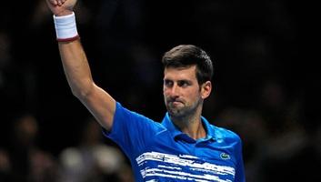 Tenisz: Đoković sima győzelemmel kezdte az ATP-világbajnokságot - illusztráció