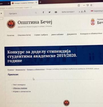 Felsőoktatási ösztöndíjpályázat Óbecsén - A cikkhez tartozó kép