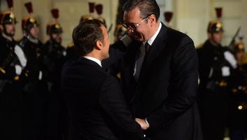 Vučić és Macron egy órán át tárgyalt négyszemközt - illusztráció
