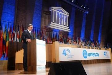 Vučić az UNESCO párizsi ülésén: A Koszovóban lévő szerbiai örökségnek védelemra van szüksége - A cikkhez tartozó kép
