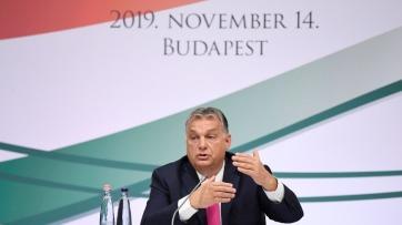 Orbán a Diaszpóratanács plenáris ülésén: Bevándorlásellenesek vagyunk, magyart csak magyarral lehet pótolni - A cikkhez tartozó kép
