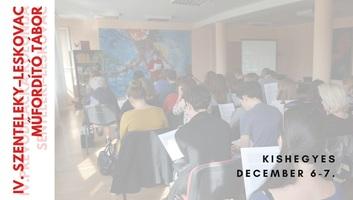 Felhívás a IV. Szenteleky–Leskovac Műfordító Táboron való részvételre - illusztráció