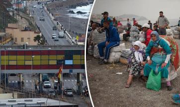 Nagy sebességgel áttört az észak-afrikai Ceuta határátkelőjén furgonjával egy embercsempész - A cikkhez tartozó kép