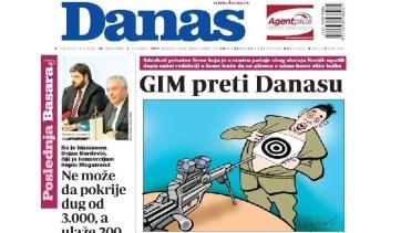 A NIN után most a Danas címoldala borzolja a kedélyeket - A cikkhez tartozó kép