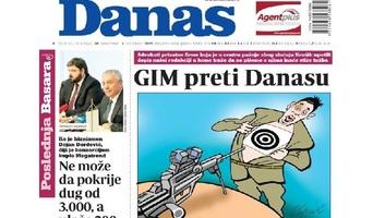 A NIN után most a Danas címoldala borzolja a kedélyeket - illusztráció