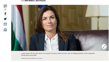 Varga Judit a Die Weltben: Két politikusnak van víziója Európa számára, az egyik Orbán Viktor - illusztráció