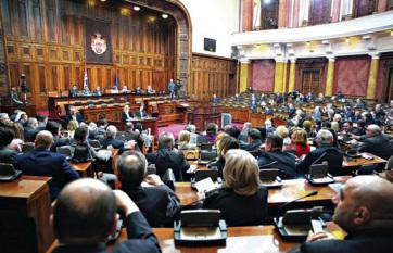 Napi fotó: A szerb parlament képviselői ma...