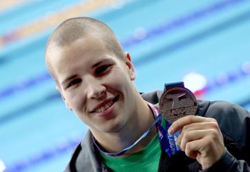 Rövidpályás úszó-vb: Szabó Szebasztián ezüstérmes 50 méter pillangón - A cikkhez tartozó kép
