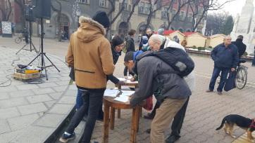 Szabadka: Tiltakozást tartottak a városrombolás ellen - A cikkhez tartozó kép