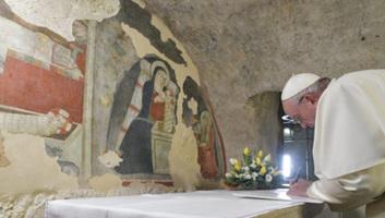 Ferenc pápa ellátogatott a betlehem-kiállításra, amelynek Magyarország a díszvendége - illusztráció