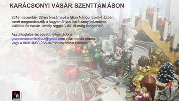 Karácsonyi vásár Szenttamáson - illusztráció