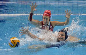 Vízilabda Eb: Fölényes győzelmet aratott a magyar női csapat Szerbia ellen - A cikkhez tartozó kép