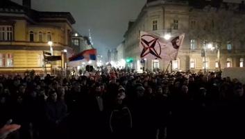 Szabadka: Tüntetés a montenegrói szerbek jogaiért - illusztráció