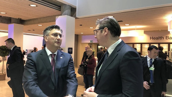Vučić találkozott Plenkovićtyal Davosban - illusztráció