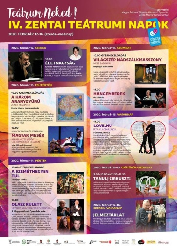Zenta: Ma kezdődik a IV. Teátrum Neked! Fesztivál - A cikkhez tartozó kép