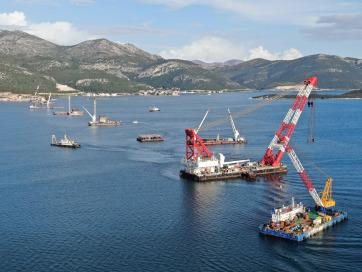 Horvát miniszter: Nem veszélyezteti a koronavírus a Pelješac-híd építését - A cikkhez tartozó kép
