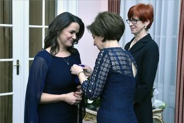 Rangos lengyel kitüntetést kapott Novák Katalin - A cikkhez tartozó kép