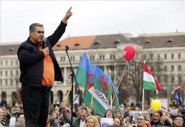 A romák érdekeiért tüntettek civil szervezetek Budapesten - A cikkhez tartozó kép