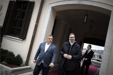 A magyar miniszterelnökhöz utazott Vučić - A cikkhez tartozó kép
