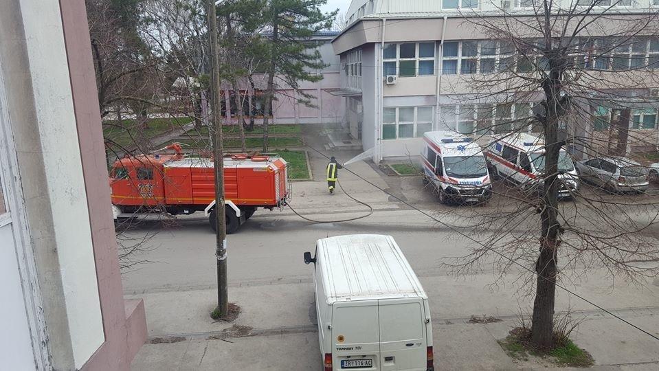 A fertőtlenítést a Szerbcsernyei Egészségház járművein is elvégezték