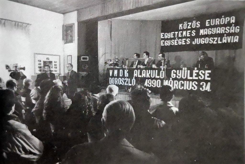 Ágoston András beszéde a VMDK doroszlói alakuló közgyűlésén