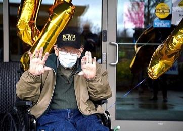 104. születésnapját ünnepelte a világ legidősebb koronavírus-túlélője - A cikkhez tartozó kép