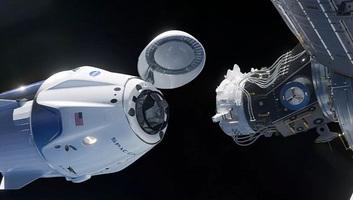 Megérkezett a Nemzetközi Űrállomásra a Crew Dragon - illusztráció