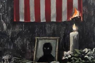 Banksy megrendítő alkotással refelektál George Floyd halálára - A cikkhez tartozó kép