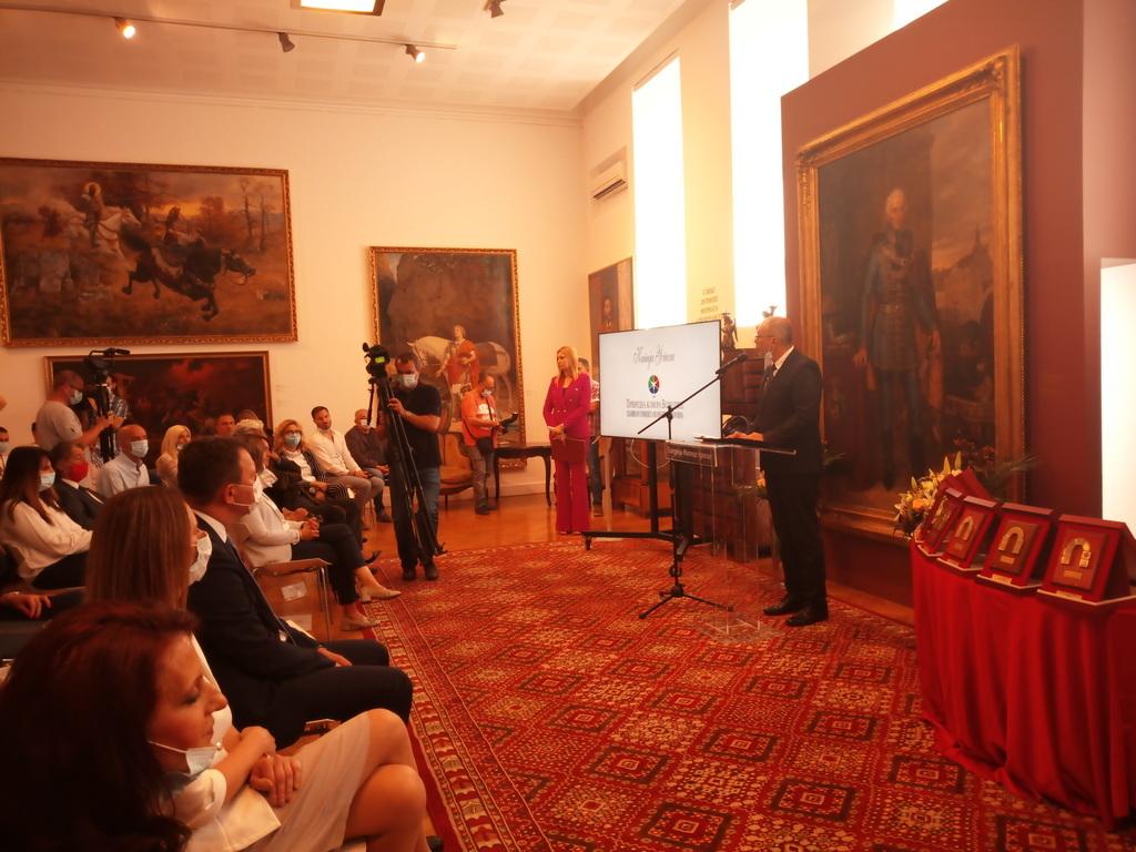 Branislav Mamić, a Vajdasági Gazdasági Kamara illetékese az ünnepségen