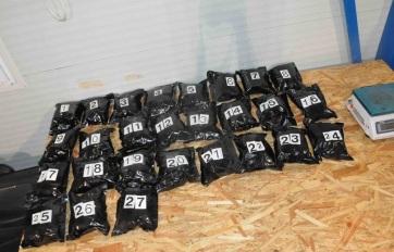 81 kilogramm marihuánát foglaltak le a rendőrök - A cikkhez tartozó kép