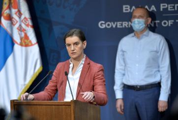 Brnabić: Figyelemmel kísérjük a helyzetet, a legrosszabb Belgrádban, Šabacon, Kragujevacon és Novi Pazarban - A cikkhez tartozó kép