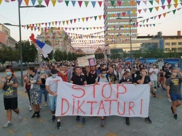 A nagybecskerekiek is csatlakoztak a tiltakozáshoz - A cikkhez tartozó kép