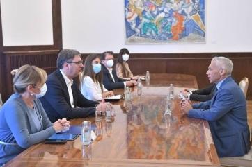 Az orosz nagykövettel tárgyalt Vučić - A cikkhez tartozó kép