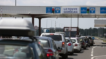 Jelentős a torlódás a letenyei magyar-horvát határátkelőkön - A cikkhez tartozó kép