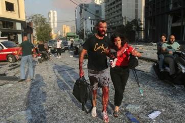 Bejrúti robbanás: Százharmincnál több a halott, és több mint ötezren sérültek meg - A cikkhez tartozó kép
