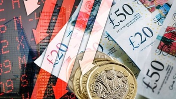Soha nem látott mértékben csökkent a brit GDP a második negyedévben - illusztráció